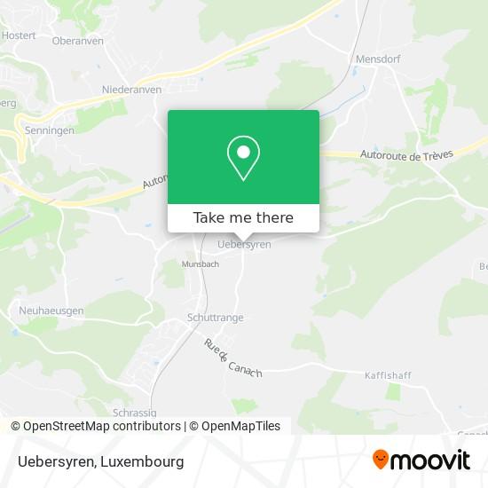 Uebersyren map