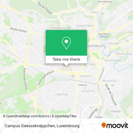Campus Geesseknäppchen map