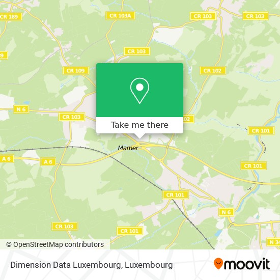 Dimension Data Luxembourg map