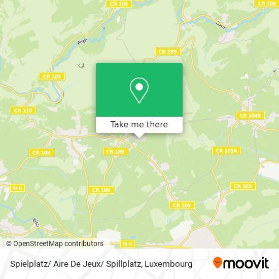Spielplatz/ Aire De Jeux/ Spillplatz map