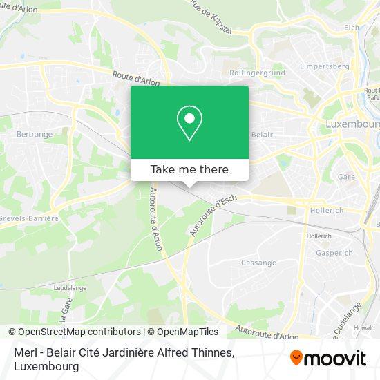 Merl - Belair Cité Jardinière Alfred Thinnes mapa