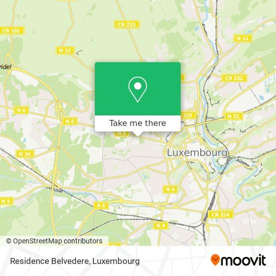 Residence Belvedere map