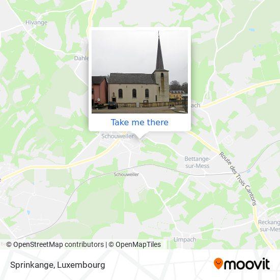 Sprinkange map