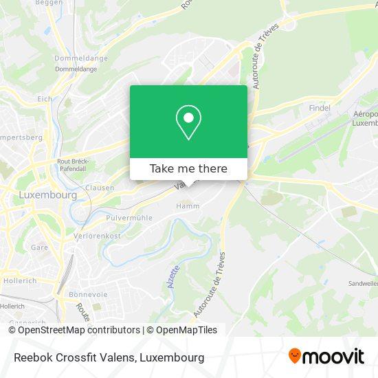 Reebok Crossfit Valens map