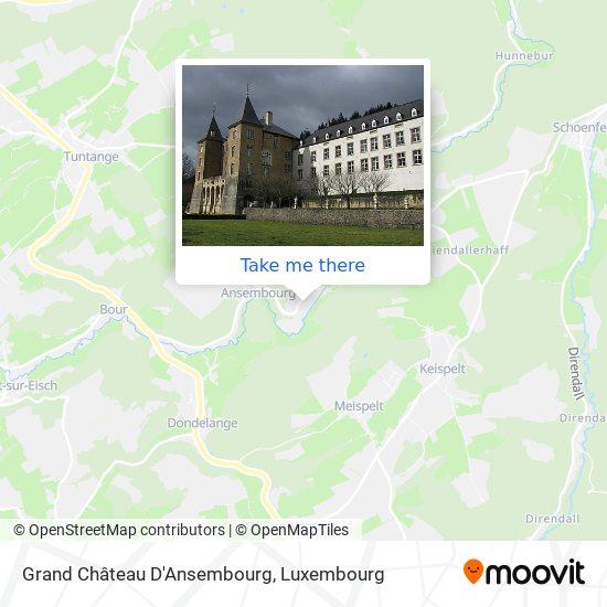 Grand Château D'Ansembourg map