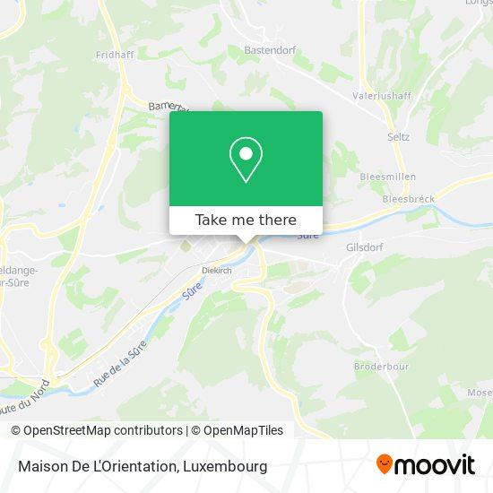 Maison De L'Orientation map