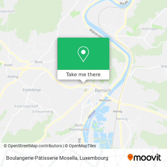 Boulangerie-Pâtisserie Mosella map