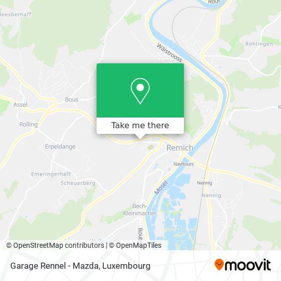 Garage Rennel - Mazda mapa