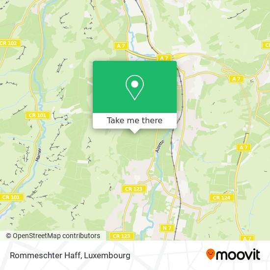 Rommeschter Haff map