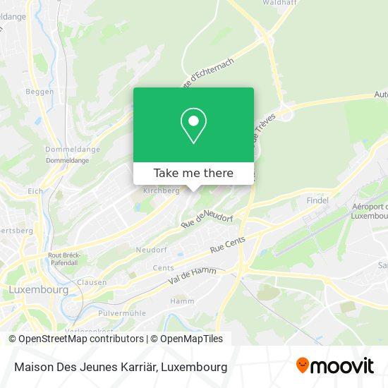 Maison Des Jeunes Karriär map