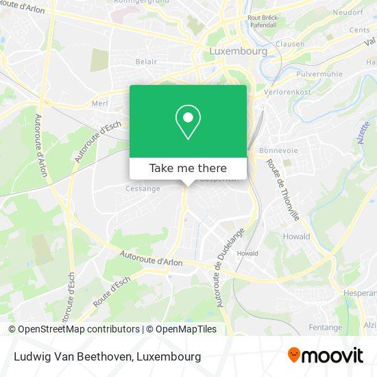 Ludwig Van Beethoven map