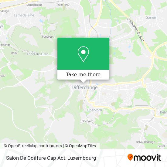 Salon De Coiffure Cap Act map
