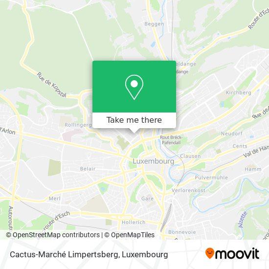 Cactus-Marché Limpertsberg map