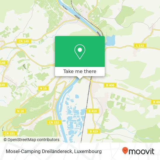 Mosel-Camping Dreiländereck map