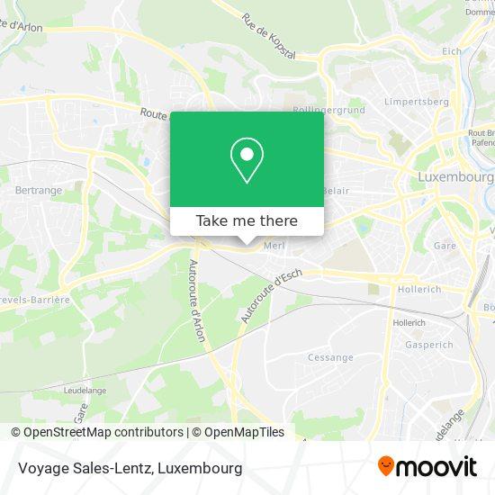 Voyage Sales-Lentz mapa