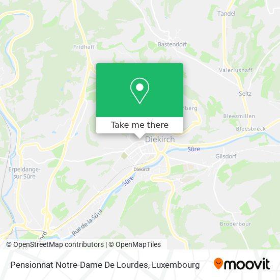 Pensionnat Notre Dame De Lourdes map
