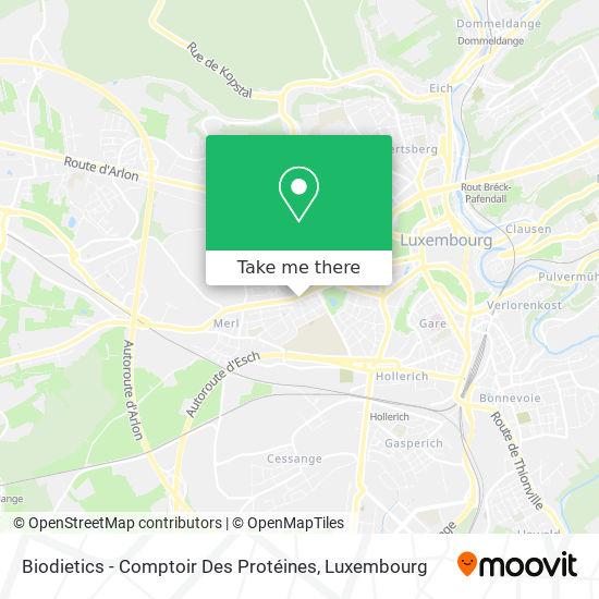 Biodietics - Comptoir Des Protéines map