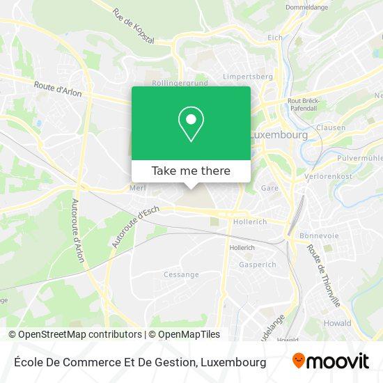 École De Commerce Et De Gestion map