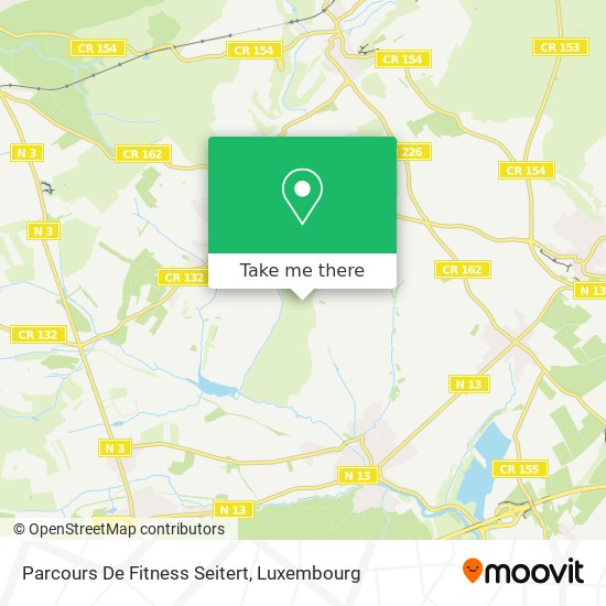 Parcours De Fitness Seitert map