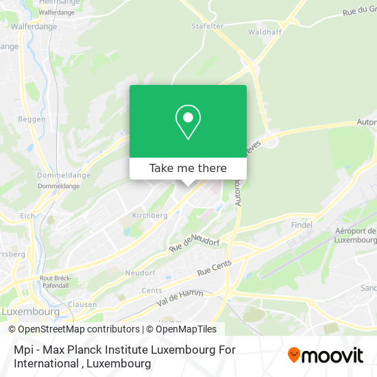Mpi - Max Planck Institute Luxembourg For International map