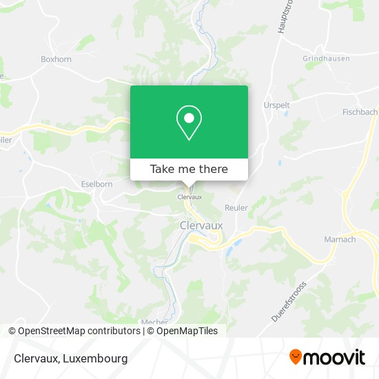 Clervaux map