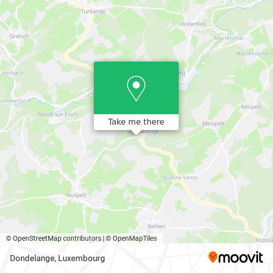 Dondelange map