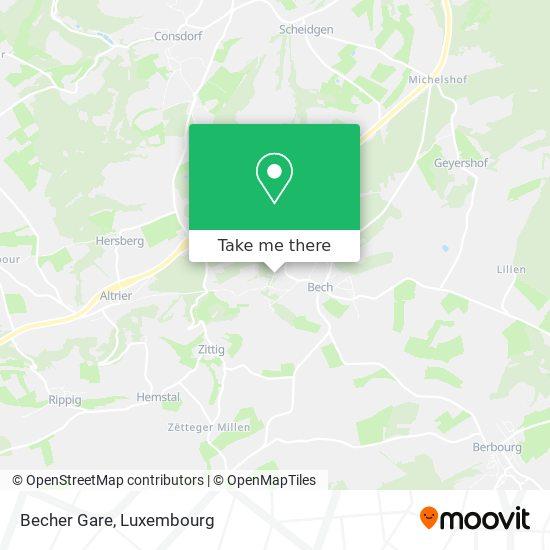 Becher Gare map