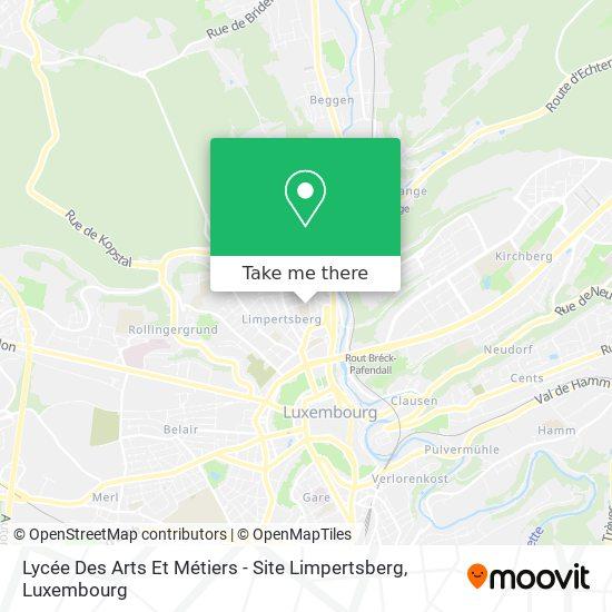 Lycée Des Arts Et Métiers // Site Limpertsberg map