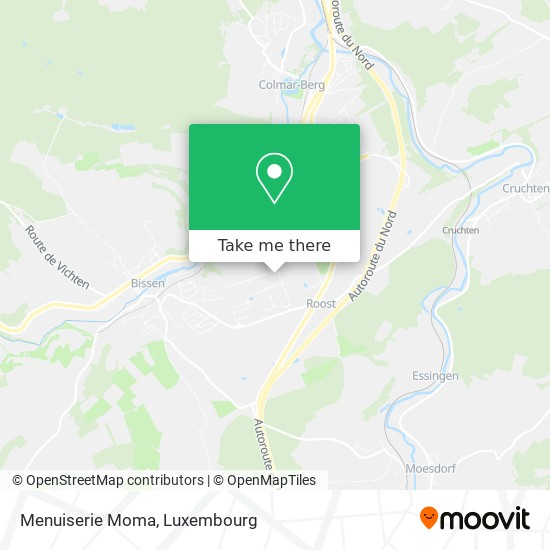 Menuiserie Colling map