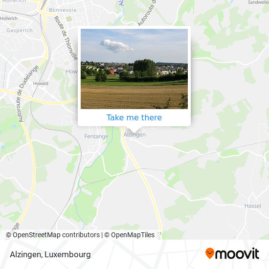 Alzingen map