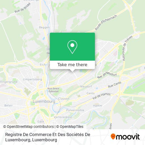 Registre De Commerce Et Des Sociétés De Luxembourg map