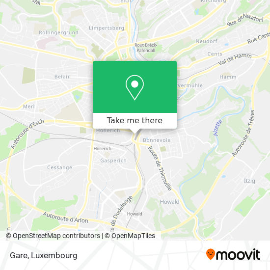 Gare map