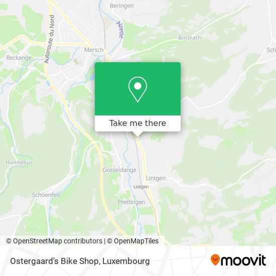 Ostergaard's Bike Shop map