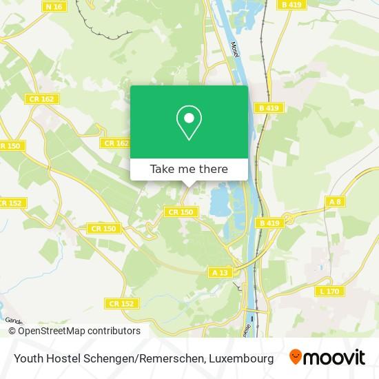 Youth Hostel Schengen / Remerschen map