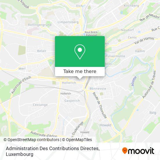 Administration Des Contributions Directes map