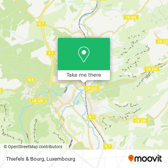 Thiefels & Bourg map