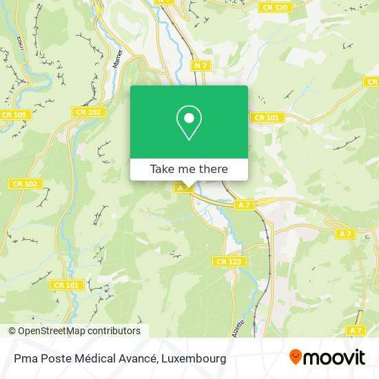 Pma Poste Médical Avancé map