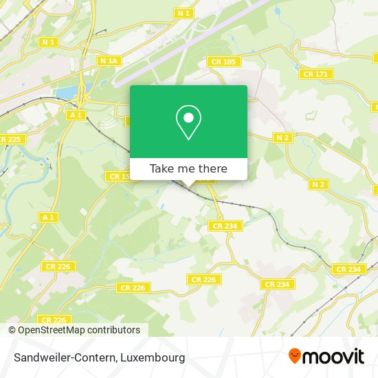 Sandweiler-Contern map