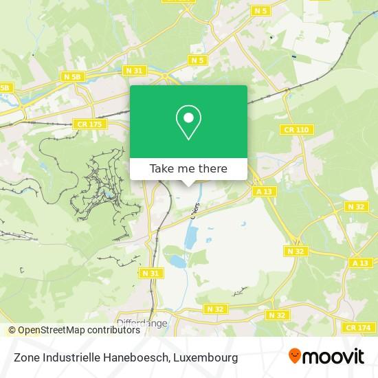 Zone Industrielle Haneboesch map