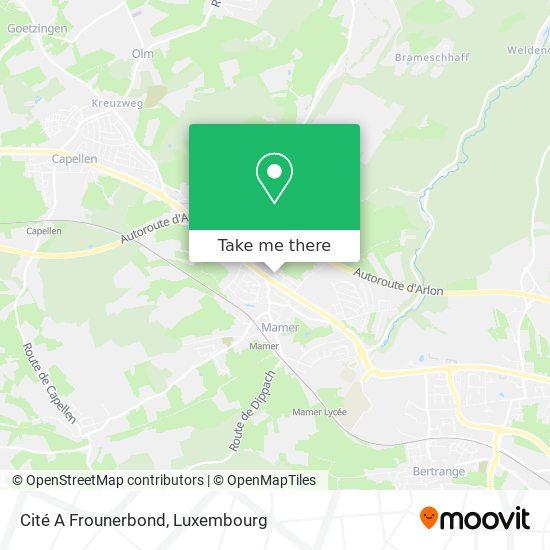 Cité A Frounerbond map