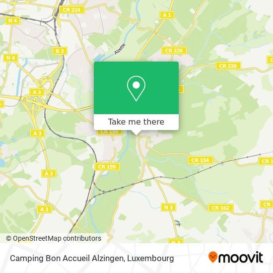 Camping Bon Accueil Alzingen map