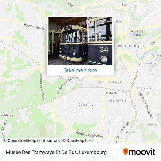 Musée Des Tramways Et De Bus map