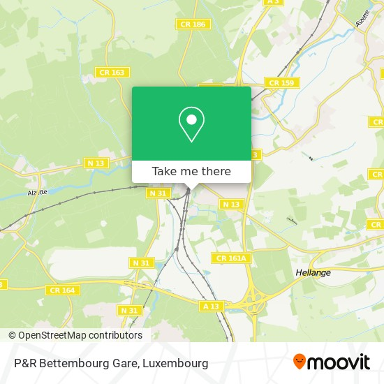 P&R Bettembourg Gare map