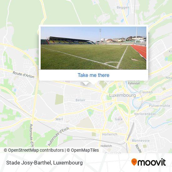 Stade Josy-Barthel map