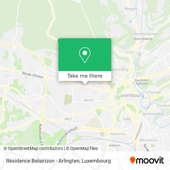 Résidence Belairizon - Arlingten map