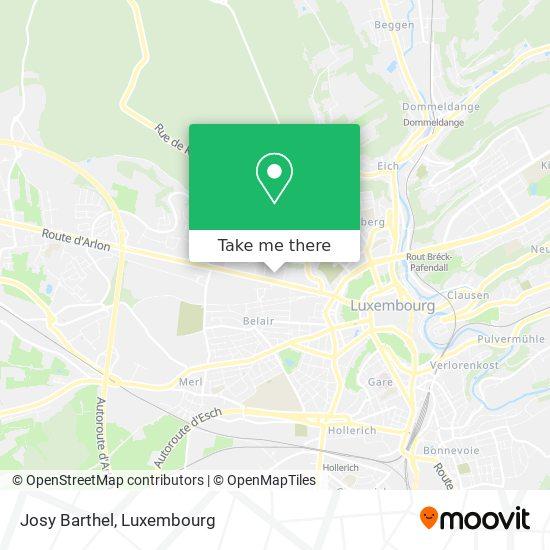 Josy Barthel map