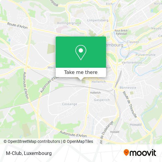 M-Club map