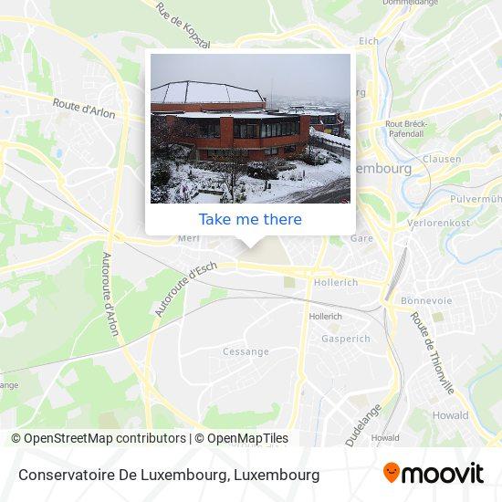 Conservatoire De Luxembourg map