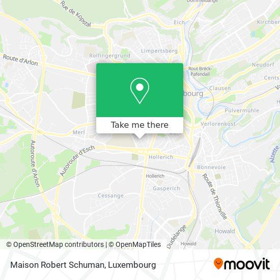 Maison Robert Schuman map