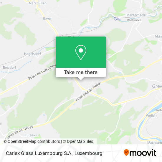 Carlex Glass Luxembourg S.A. map